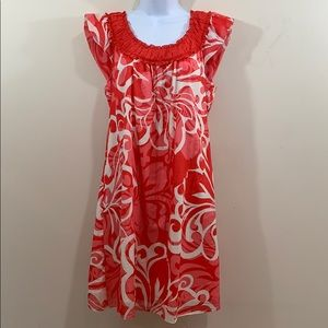Max Edition Short Sleeve Floral Lined Dress  Sz M